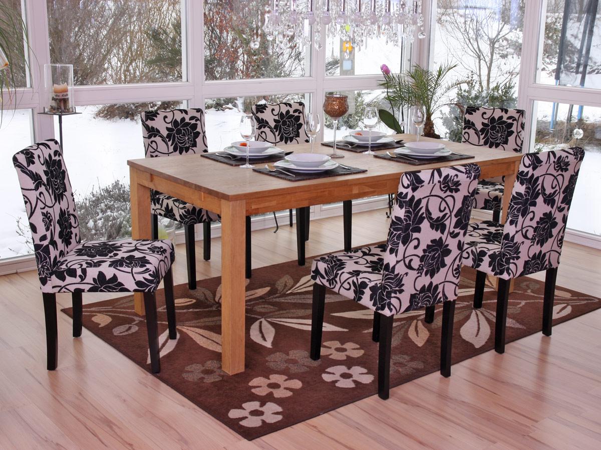 Set 6x sedie littau tessuto per sala da pranzo 43x56x90cm for Sedie da sala pranzo